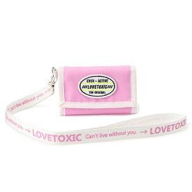 ロゴストラップつき三つ折り財布/ラブトキシック(Lovetoxic)