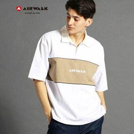 【WEB別注】AIRWALKコラボ切り替えポロシャツ/ヴィタル ムッシュニコル(VITAL MONSIEUR NICOLE)