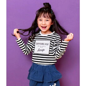 袖レースアッププリントロンT/アナップキッズ&ガール(ANAP KIDS&GIRL)
