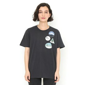 【ユニセックス】コラボレーションTシャツ/ワッペン(ハーベストテキスタイルデザイン)/グラニフ(graniph)