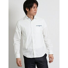 シャンブレーパナマ ワイドカラー長袖シャツ/タカキュー(TAKA-Q)