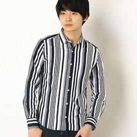 ストライプカノコシャツ/モルガンオム(MORGAN HOMME)