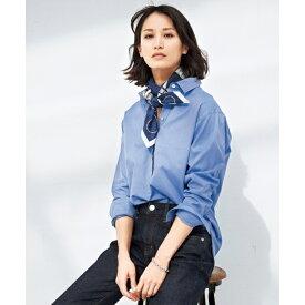 【マガジン掲載】CANCLINI コットンチュニックシャツ(検索番号F35)/23区 L(NIJYUSANKU L)