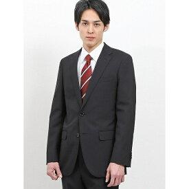 ウォッシャブル無地黒 2パンツスーツ スリム/タカキュー(TAKA-Q)
