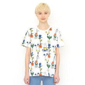 【ユニセックス】コラボレーションTシャツ/お花とミッフィー(ミッフィー)/グラニフ(graniph)