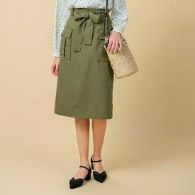 【WEB限定サイズあり】ワークポケットタイトスカート/グローブ(grove)