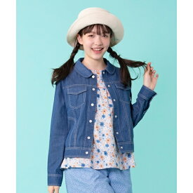 【110〜140cm】花柄刺繍 デニムジャケット/組曲 キッズ(KUMIKYOKU KIDS)