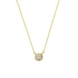 K18YG ダイヤモンド 0.1ct ミロワール ネックレス/VA ヴァンドーム青山(VAvendomeaoyama)