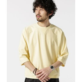 【19SS】ターンナップカフスワイドTシャツ7/S/ナノ・ユニバース(メンズ)(nano universe)