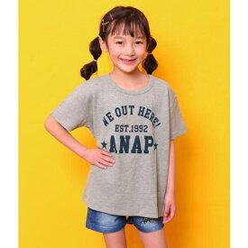 ワッフルBIGTシャツ/アナップキッズ&ガール(ANAP KIDS&GIRL)