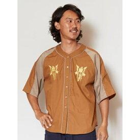 【チャイハネ】刺繍入りMEN'Sベースボールシャツ/チャイハネ(CAYHANE)