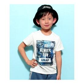 デニムパッチワークTシャツ/アナップキッズ&ガール(ANAP KIDS&GIRL)