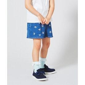 【KIDS】小花刺繍 ライトオンスデニム ショートパンツ/エニィファム キッズ(any FAM KIDS)