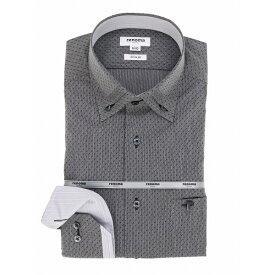 形態安定スリムフィット 3枚衿ボタンダウン長袖シャツ/タカキュー(TAKA-Q)