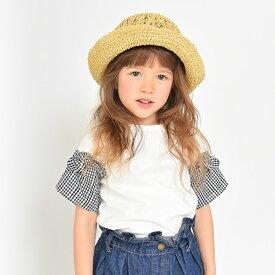 袖チェック半袖Tシャツ/ブランシェス(branshes)