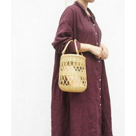 WICKER ROUND TOTE/アースメイド(EARTHMADE)