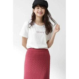 《EDIT COLOGNE》ラメロゴTシャツ/プロポーションボディドレッシング(PROPORTION BODY DRESSING)