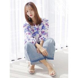 Mellow Flowerパイピングシャツ/レディメイド(LADYMADE)