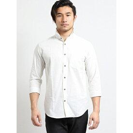 リップストップ衿ワイヤー7分袖シャツ/タカキュー(TAKA-Q)