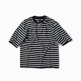 BATONER: 別注 スムース ボーダー ニット Tシャツ/シップス(メンズ)(SHIPS)