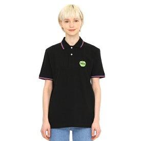 【ユニセックス】コラボレーションポロシャツ/グリーンアップルロゴ(ザビートルズ)/グラニフ(graniph)
