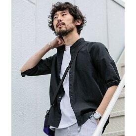 【19SS】フレンチリネンバンドカラーシャツ 7分袖/ナノ・ユニバース(メンズ)(nano universe)