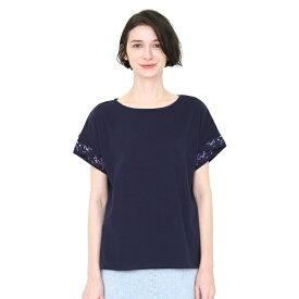 【レディース】刺繍カフスTシャツ/テールオブザフラワー/グラニフ(graniph)