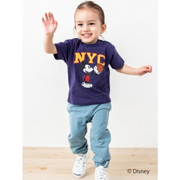 DISNEY バスケットミッキーデザインTシャツ/プティマイン(petit main)