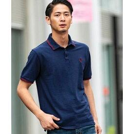 【ADMIX】サマー 鹿の子 / ワンポイント 刺繍入り ポロシャツ(半袖)/A・S・M(A.S.M)