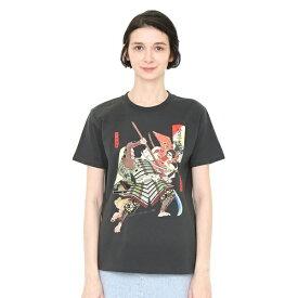 【ユニセックス】コラボレーションTシャツ/源牛若丸熊坂長範(月岡芳年)/グラニフ(graniph)