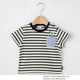 【80-110cm限定コラボ】ボーダーポケット フレデリックTシャツ/シューラルー(キッズ)(SHOOLARUE Kids)