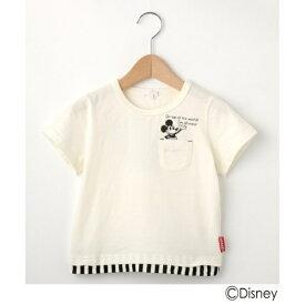 【Disney】ミッキーマウスデザイン ポケットTシャツ/シューラルー(キッズ)(SHOOLARUE Kids)