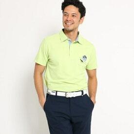 【吸水速乾】【UVカット】胸ポケット付きボタニカル柄半袖ポロシャツ メンズ/アダバット(メンズ)(adabat(Mens))