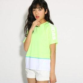 adidas カラーブロックTシャツ/ピンク ラテ(PINK latte)
