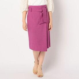 ウエストリボン麻混合繊スカート/ノーリーズ レディース(NOLLEY'S)