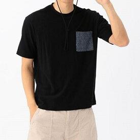 ポケット付きクルーネック梨地Tシャツ/アーノルドパーマー タイムレス(メンズ)(arnold palmer timeless)
