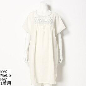 【大きいサイズ】刺繍入り切替ワンピース/ソソ(大きいサイズ)(SOSO)