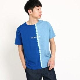 縦切替タイダイTシャツ/ザ ショップ ティーケー(メンズ)(THE SHOP TK Mens)