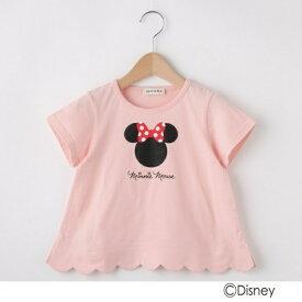 【Disney】ミニーマウススデザイン カラップTシャツ/シューラルー(キッズ)(SHOOLARUE Kids)