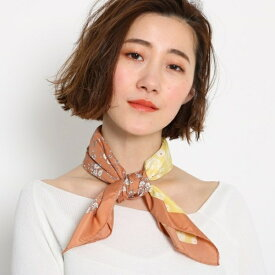 【洗える】レトロフラワー柄スカーフ/エージー バイ アクアガール(AG by aquagirl)