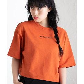 バックベルトロゴショートTシャツ/ウィゴー(レディース)(WEGO)