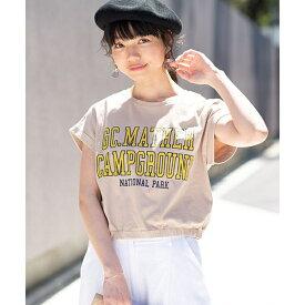 カレッジロゴUSAコットンTシャツ/ウィゴー(レディース)(WEGO)