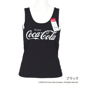 レディース 「Coca-Cola(コカ・コーラ)」 カップ付きタンクトップ/福助(FUKUSKE)