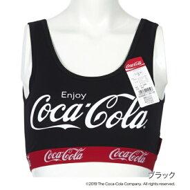 レディース 「Coca-Cola(コカ・コーラ)」 カップ付きハーフトップ/福助(FUKUSKE)