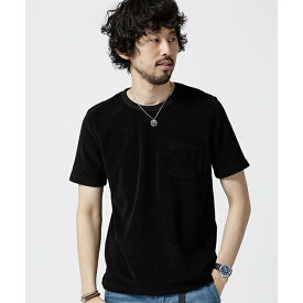 【19SS】ショートリングパイルTシャツ/ナノ・ユニバース(メンズ)(nano universe)