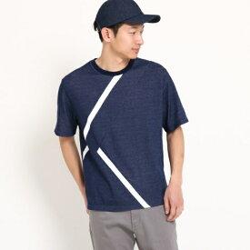 【接触冷感】ラインTシャツ/ザ ショップ ティーケー(メンズ)(THE SHOP TK Mens)