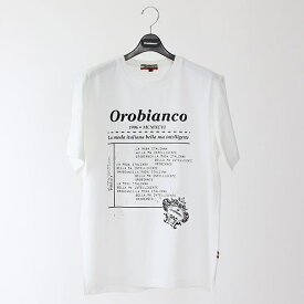 メッセージプリント半袖Tシャツ/オロビアンコ(カジュアル)(Orobianco)