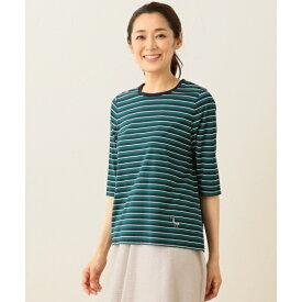 【洗える!】バスクボーダー Tシャツ(6分袖)/ジェーン モア(JANE MORE)