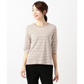 【洗える!】バスクボーダー Tシャツ(6分袖)/ジェーン モア L(JANE MORE L)