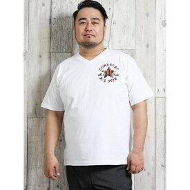 コンバース/CONVERSE サガラ刺繍Vネック半袖Tシャツ/グランバック(GRAND-BACK)